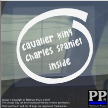 1 x Cavalier King Charles Spaniel Inside-Window,Car,Van,Sticker,Sign,Adhesive